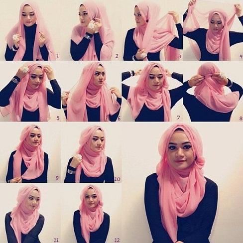 Heart Face Hijab Styles
