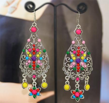 multi-coloured-silver-chandelier-earrings