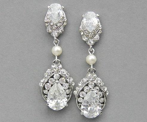 silver-bridal-earrings