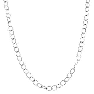 White Gold Rolo Chain