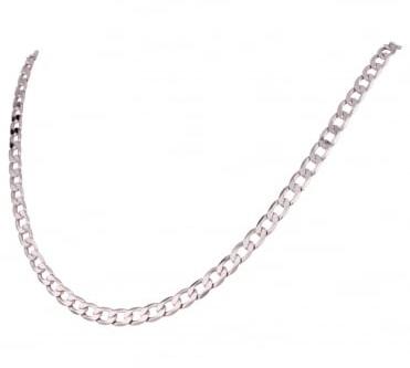 White Gold Curb Chain