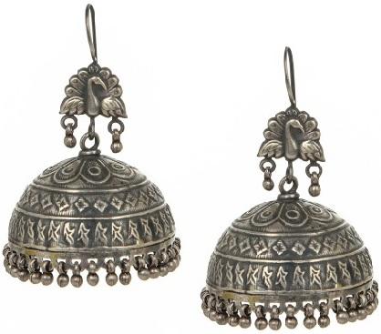 antique-madhuban-silver-jhumka