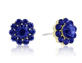 Flower shaped crystal earrings