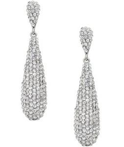 Pave drop earrings