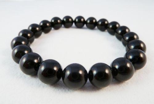 Black Tourmaline Stretch Bracelet