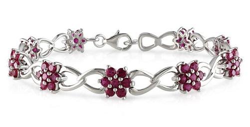 Flower ruby bracelet