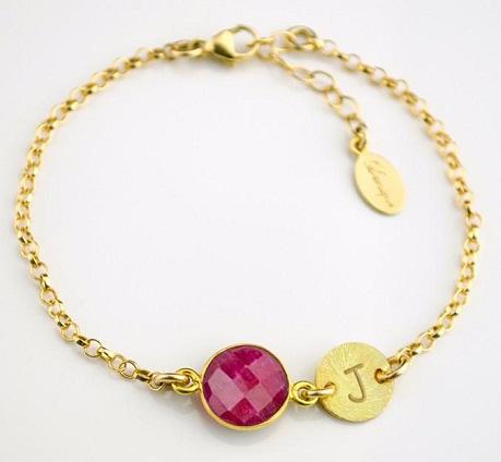 Birthstone Ruby Bracelet -5