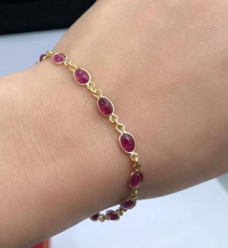 Tennis ruby bracelet