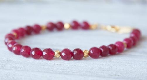 Ruby Beads Bracelet -9