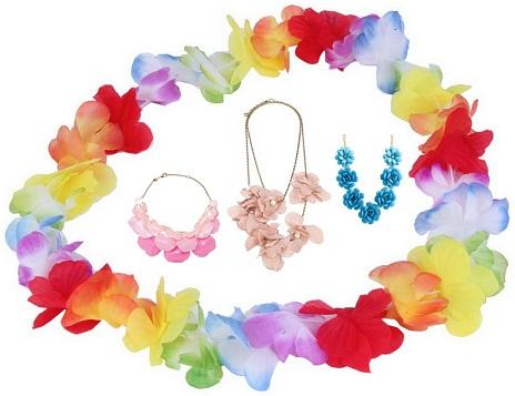 flower necklaces