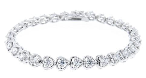 Tennis Heart Bracelet