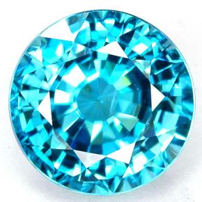 Blue zircon December birthstone